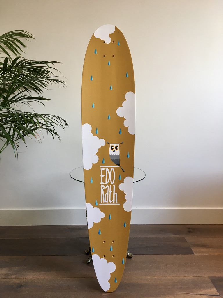 Studio Edo Rath Painting - Long Board - Honey Badger Decks