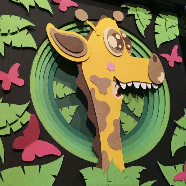 Studio Edo Rath Paper Art - Giraffe 23 x 23 cm
