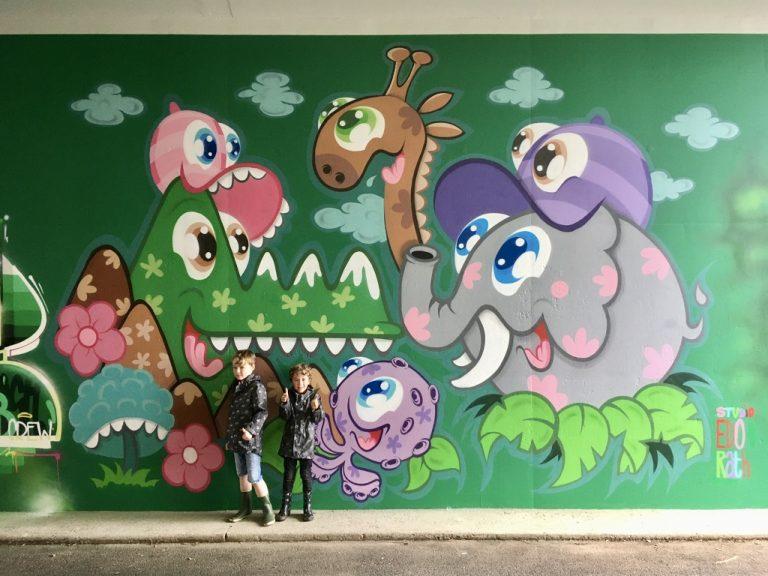 Studio Edo Rath Mural - Fietstunnel Apeldoorn