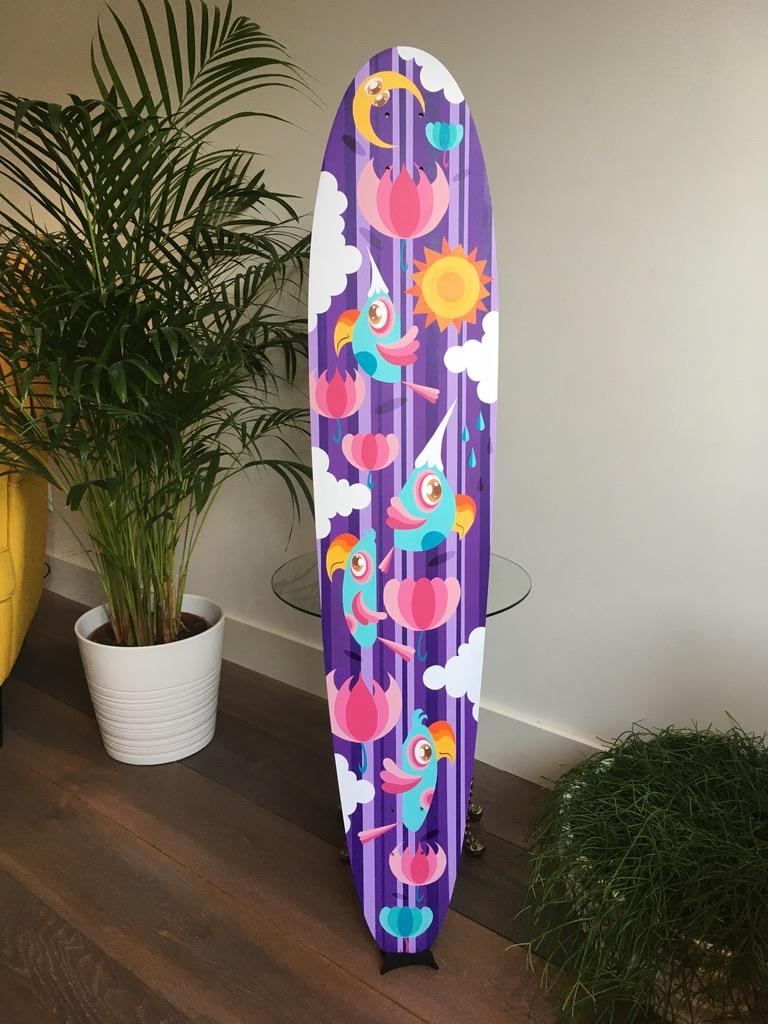 Studio Edo Rath Painting - Long Board - Honey Badger Decks