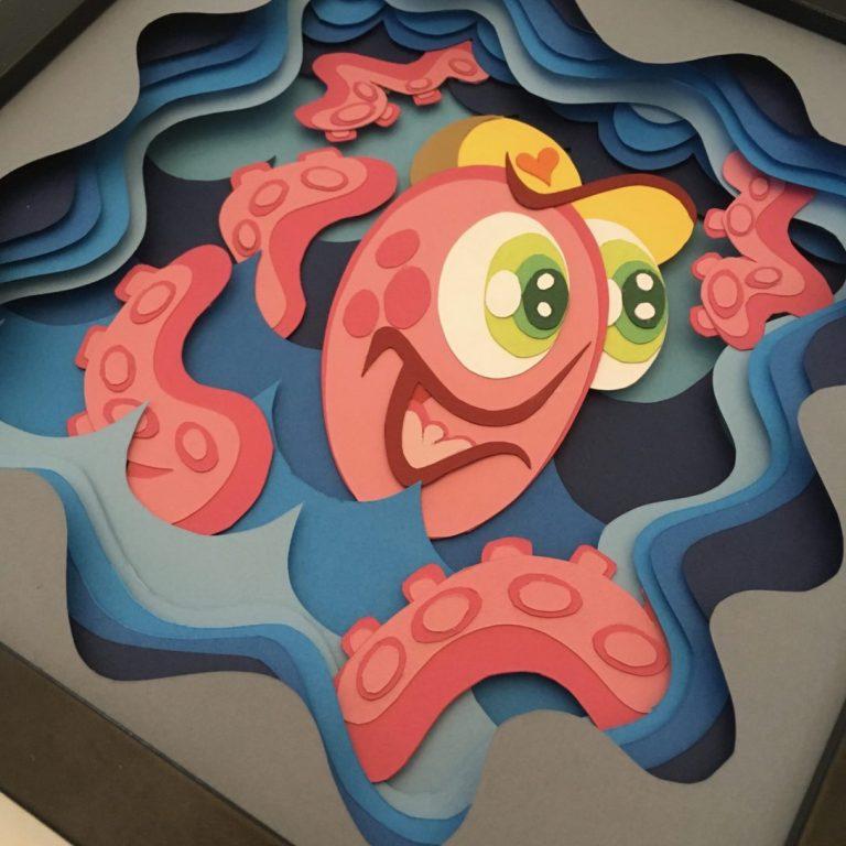 Studio Edo Rath Paper Art - Octopus 23 x 23 cm