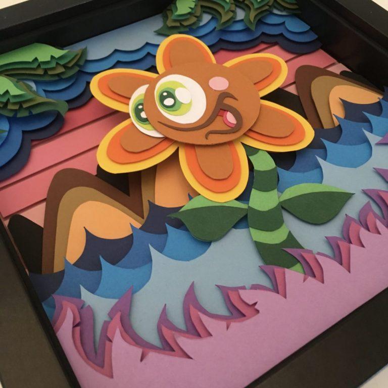 Studio Edo Rath Paper Art - Sunflower 23 x 23 cm