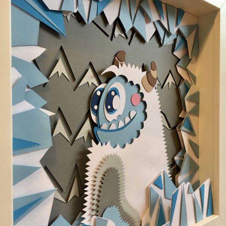 Studio Edo Rath Paper Art - Yeti 23 x 23 cm