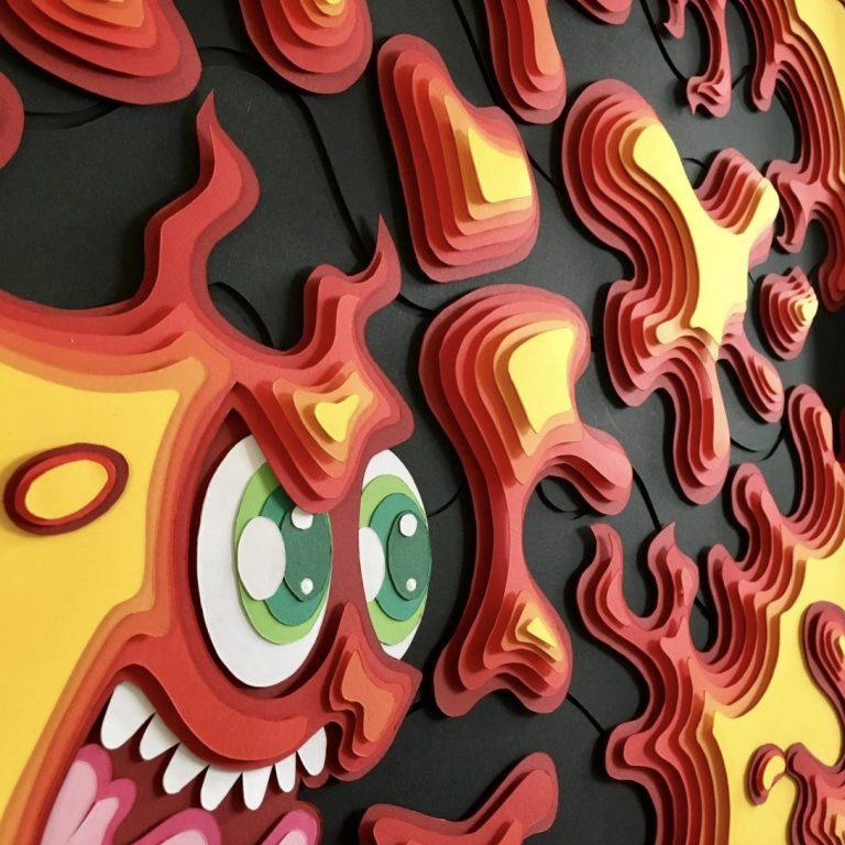 Studio Edo Rath Paper Art - On Faya 50 x 50 cm