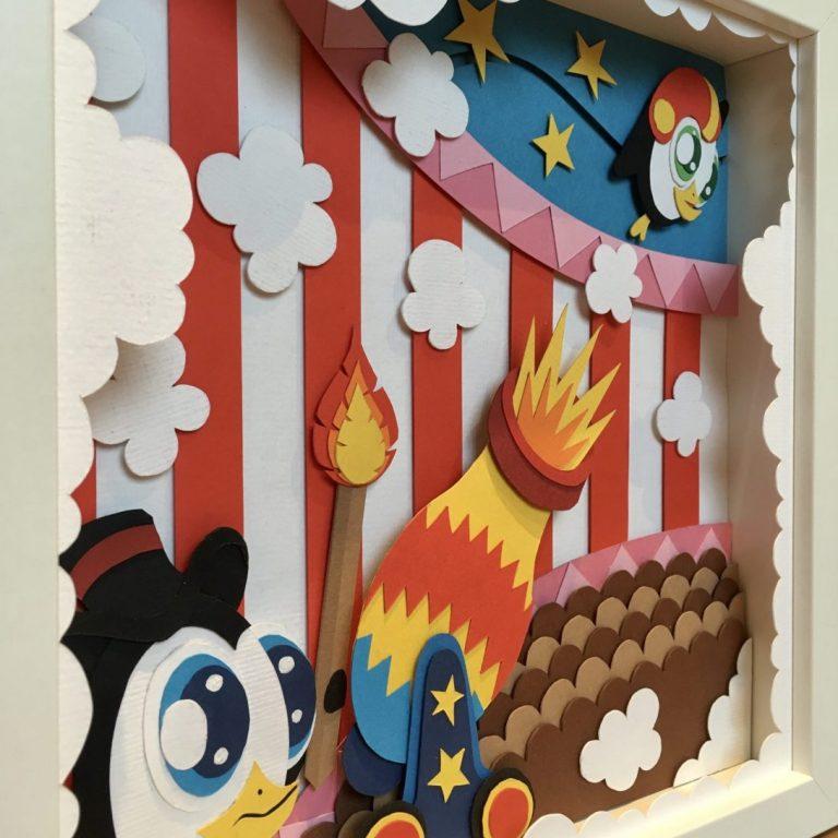 Studio Edo Rath Paper Art - Canonball Penguins 23 x 23 cm