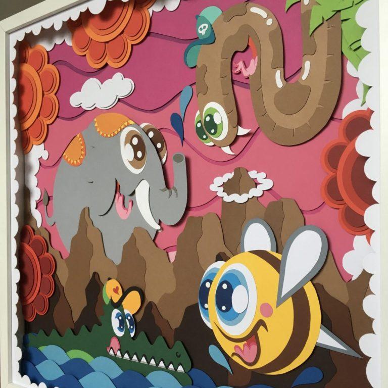 """Studio Edo Rath - """"It's a Fairytale"""" - Paper Art (Size: 50 x 50 cm)"""