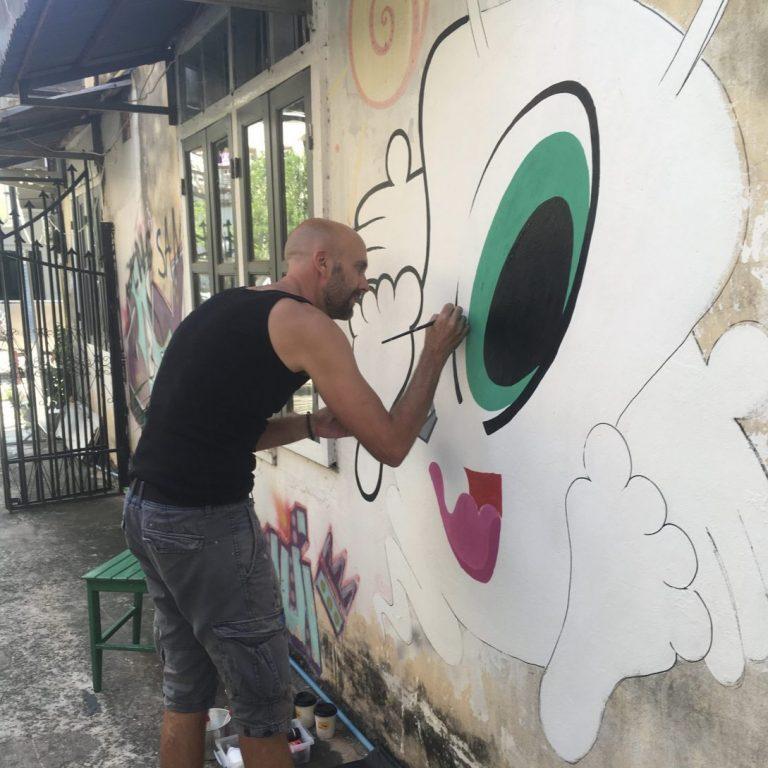 Studio Edo Rath Mural - Vientiane Laos