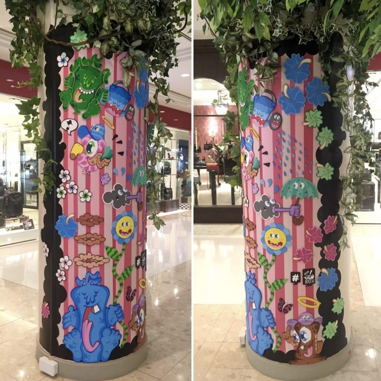 Studio Edo Rath Mural - Shopping mall Gaysorn Bangkok Thailand