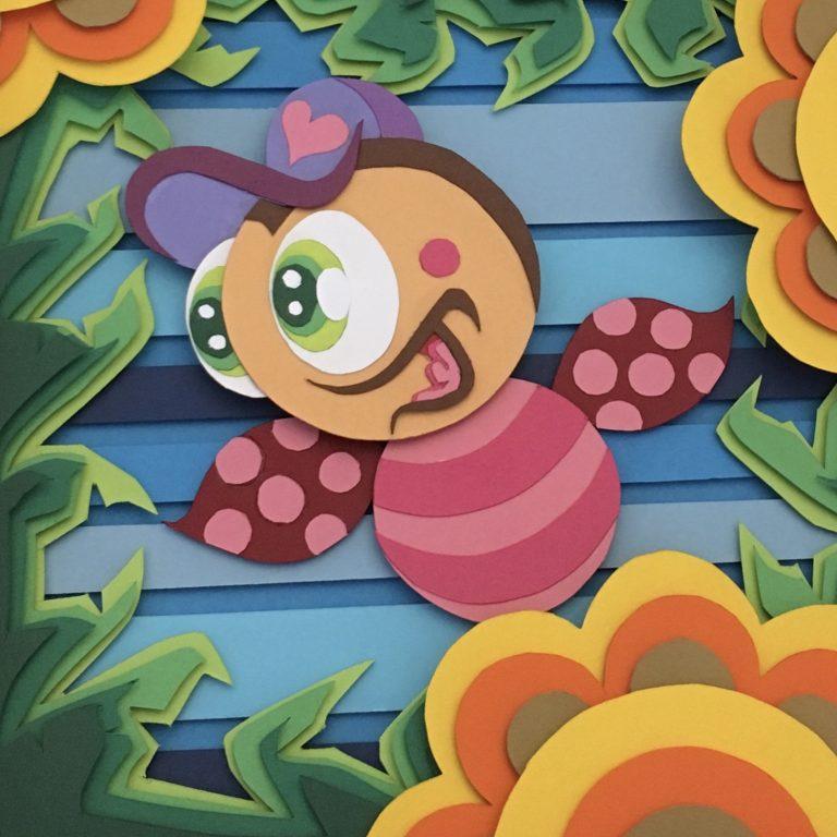 Studio Edo Rath Paper Art - Ladybug 23 x 23 cm
